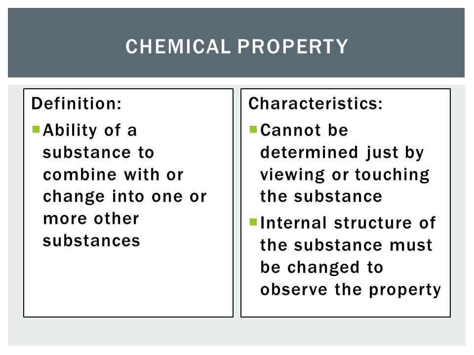 How Are Chemical Properties Determined