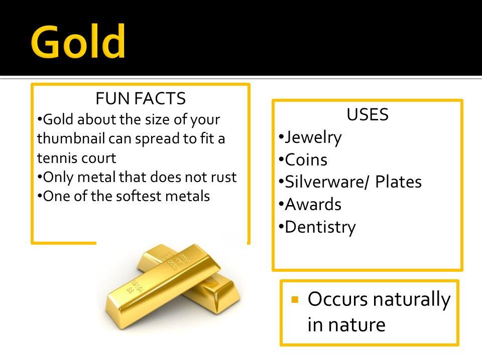 Transition Metals: Copper, Silver, Gold Zinc, Cadmium, and ...