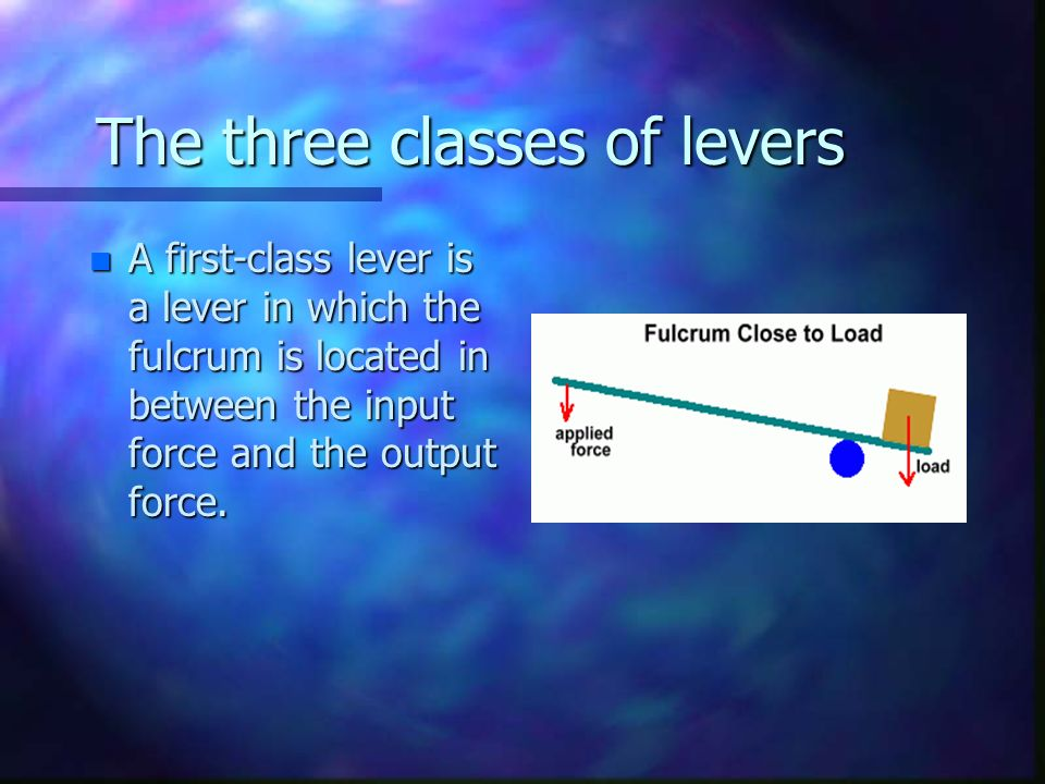 Lever Input And Output Force : Levers are one of the simple machines that were
