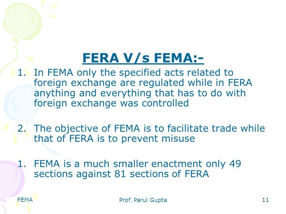 FERA V/s FEMA:-