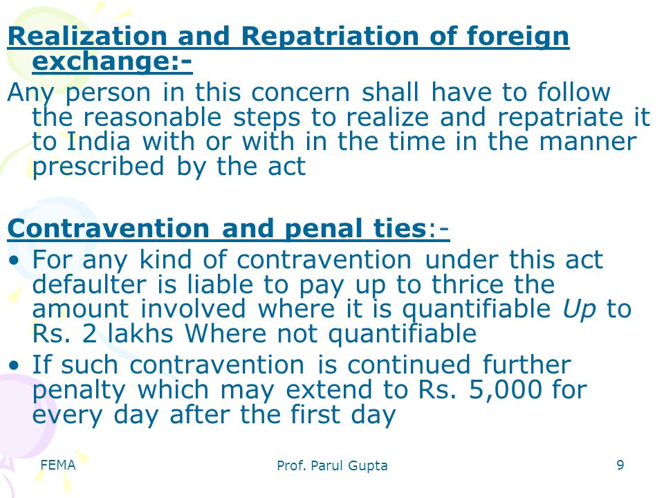 Realization and Repatriation of foreign exchange:-
