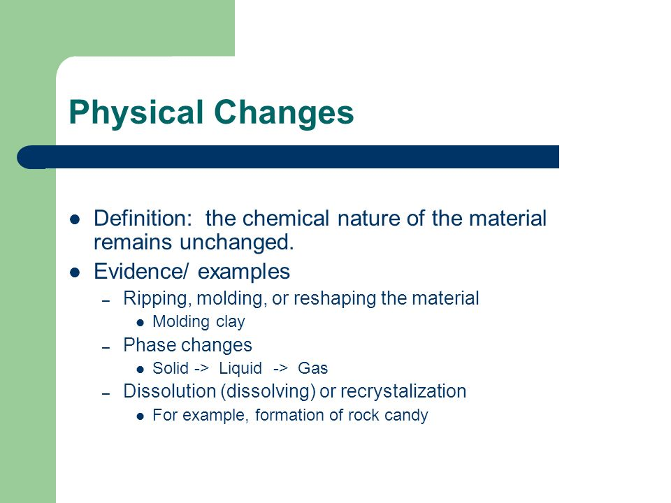 Physical And Chemical Changes Ppt Video Online Download