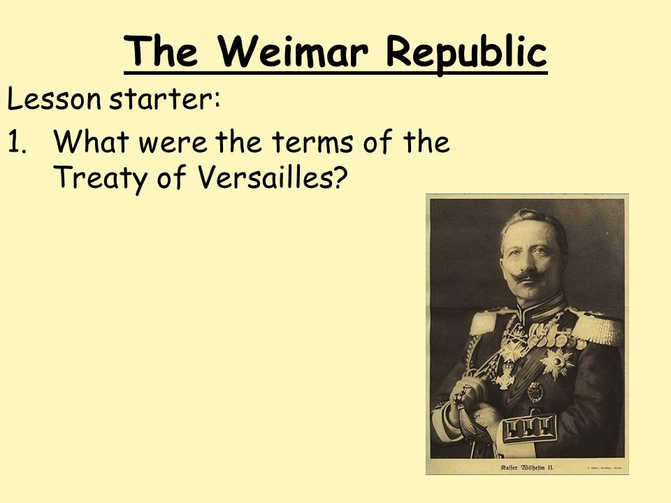 a history of the downfall of weimar republic do you agree that the collapse of weimar republic was inevitable elaborate your answer i disagree that the collapse of weimar republic was inevitableweimar republic was a democratic government created in 1919 after wwi.