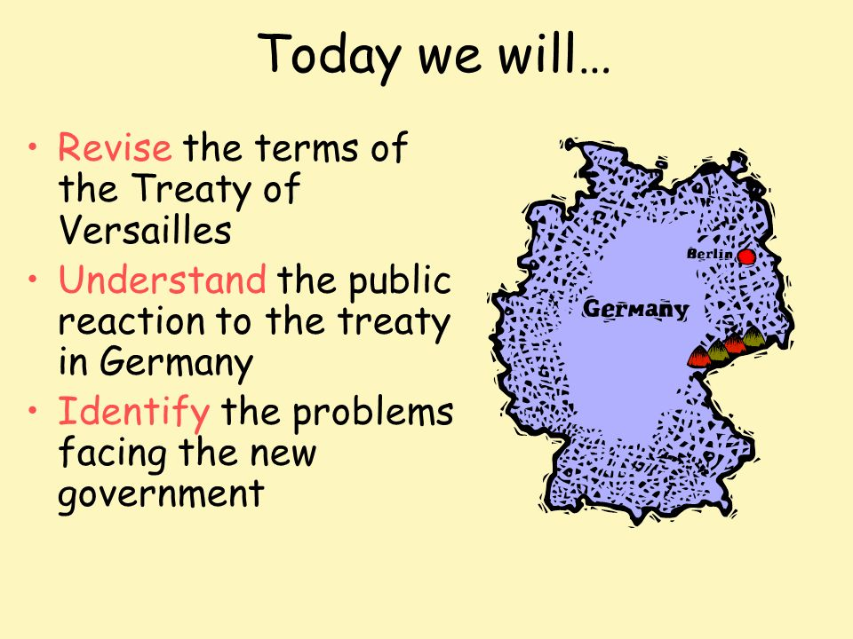 an overview of the treaty of versailles affecting the germany post world war one Africa and the first world war north africa to fight against germany on the frontline in europe one million signed the treaty of versailles to seal.