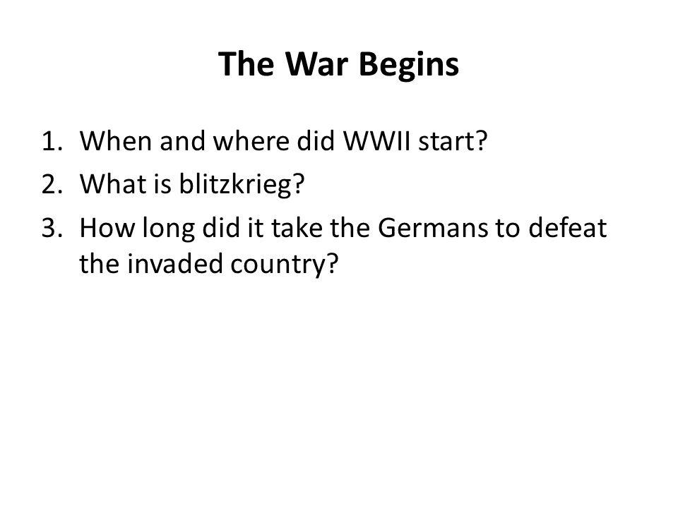 Chapter 20 Section 2 World War II Begins. - ppt download