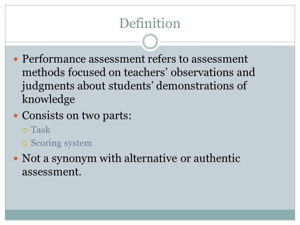 PerformanceBased Assessment Authentic Assessment  Ppt Video Online