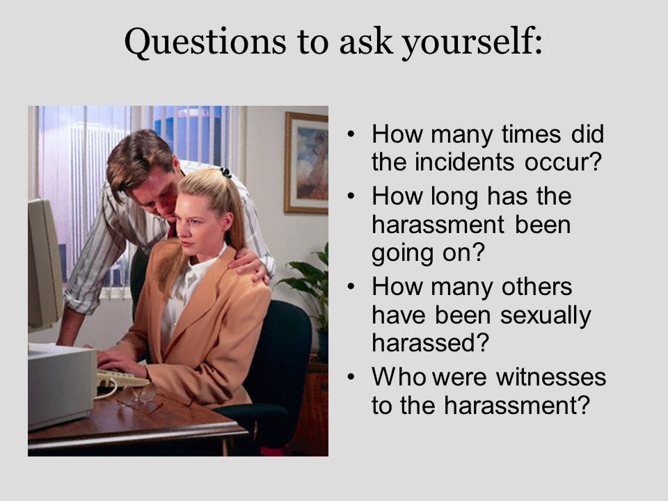 Am I Being Sexually Harassed Quiz