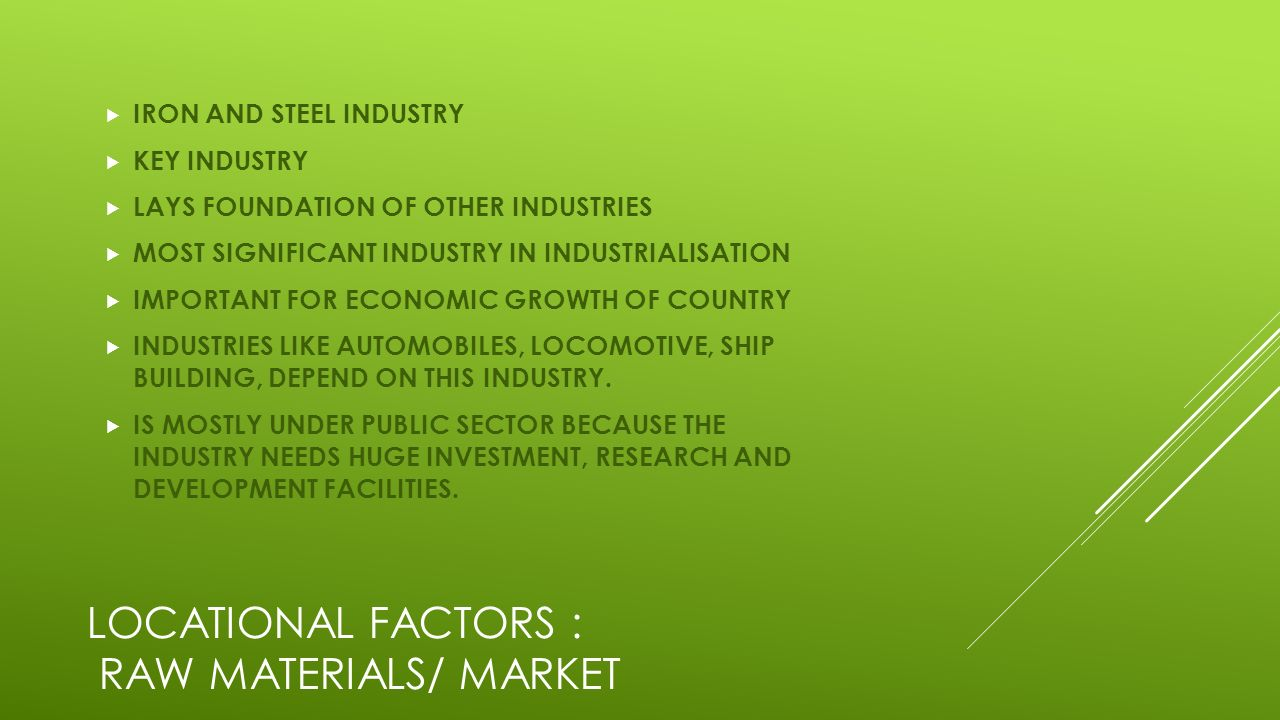 mineral based industries This group of industries depends on the raw material produced by the agricultural sector the products comprise mostly consumer goods agro- based industry is important from the point of view of contribution to industrial production and employment generation a survey of various agro- based.