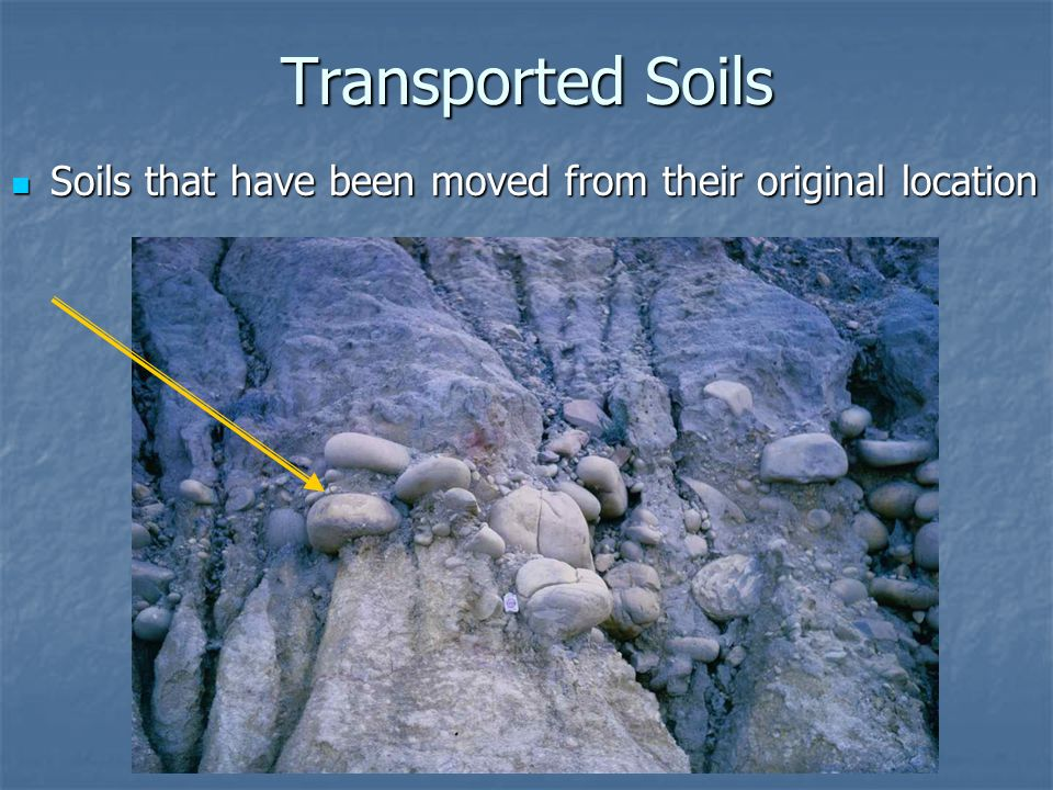 Residual/Transported Soils, Erosion, and Erosion History ...