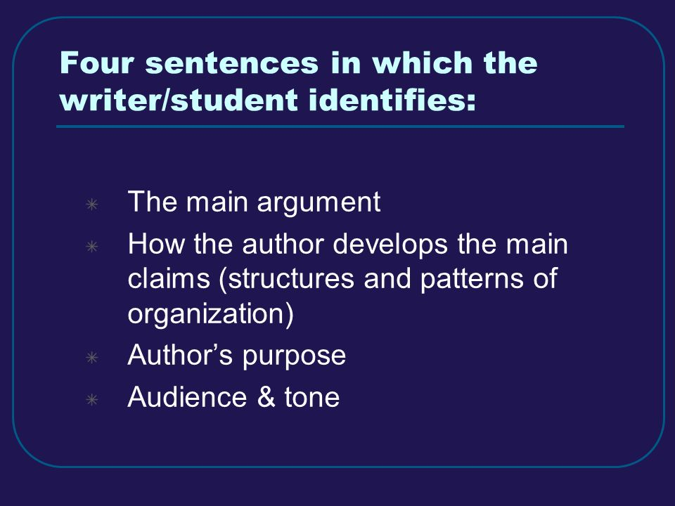 examples of precis writing Katherine arens and janet swaffar, u of texas at austin, 1 format for precis (weekly assignments) there is a difference between a text's facts and the strategy used to present those facts.