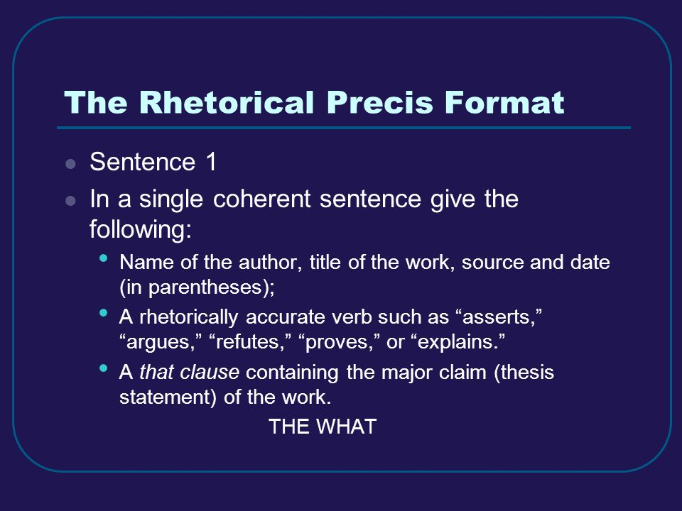 PRECIS WRITING PowerPoint Presentation, PPT - DocSlides