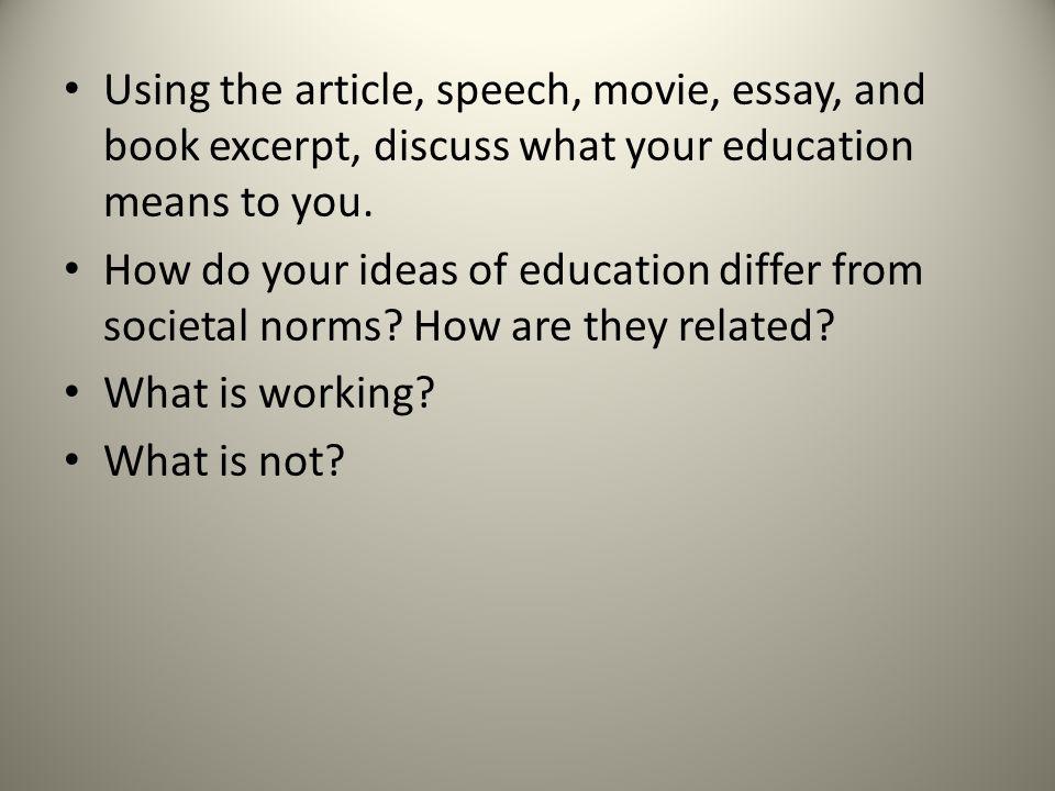 Essay on education online