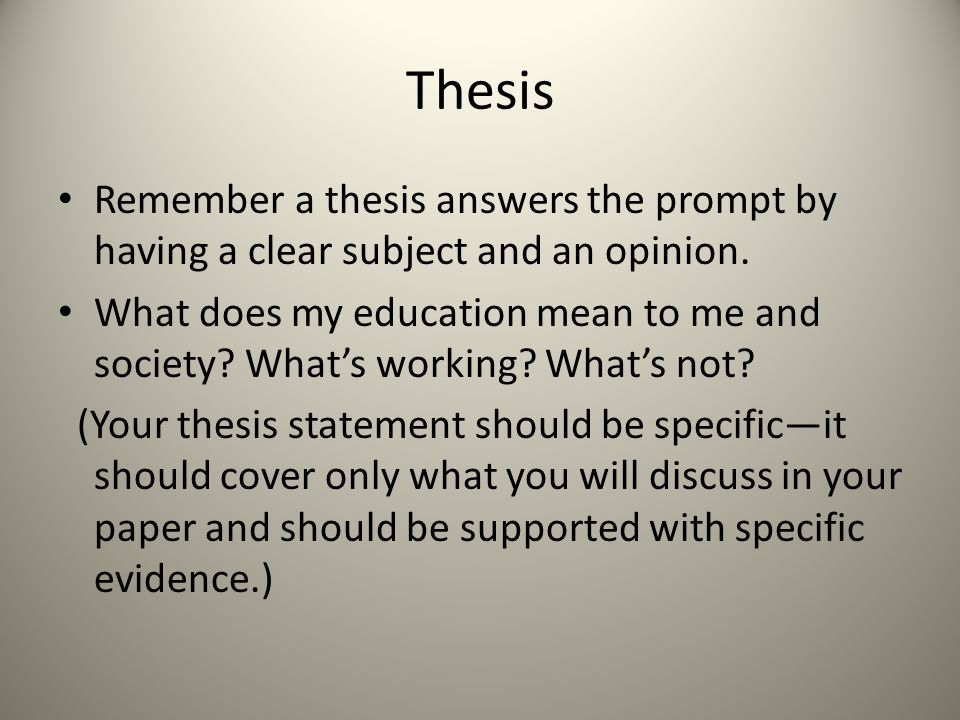 essay on education ppt video online  6 thesis