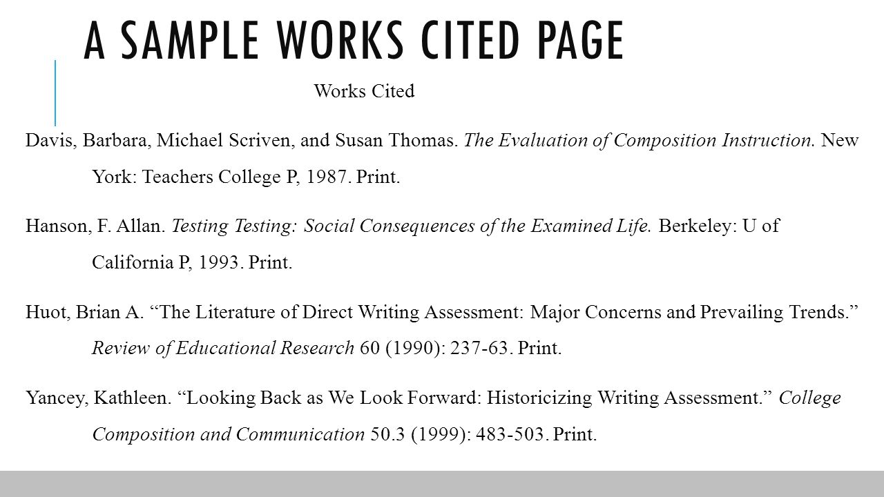 mla work cited book
