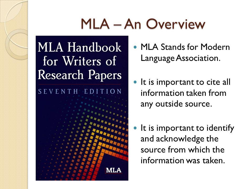 modern language association citation format