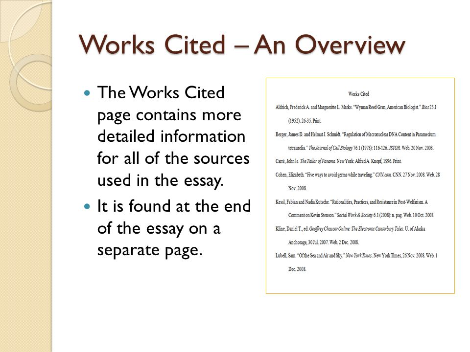 "works cited essay book Modern language association center the words ""works cited"" one inch from the top of the page the beacon book of essays by contemporary american women."