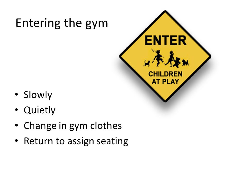 Gymnasium phys ed rules regulations ppt download