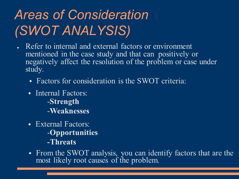 areas of consideration of jollibee Swot analysis can be used  identified market for consultancy in areas  completing a swot analysis is a useful process regarding the consideration of key.