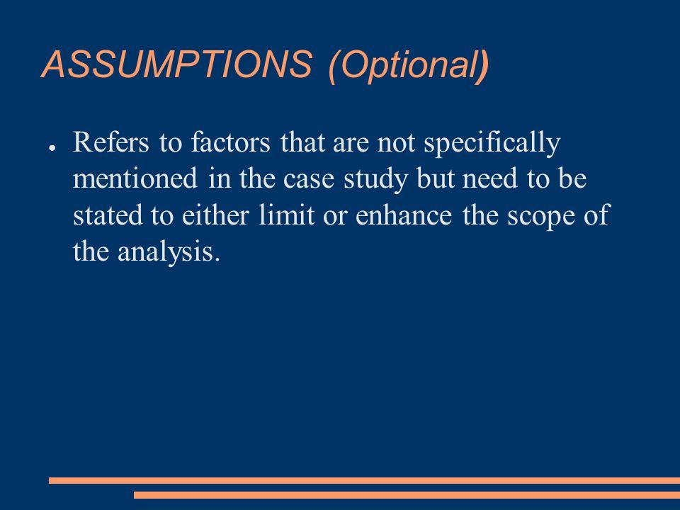 Assumptions, Limitations and Delimitations