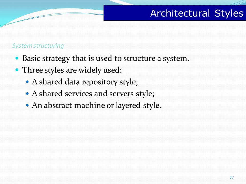 Software architecture and patterns ppt video online download for Basic architectural styles