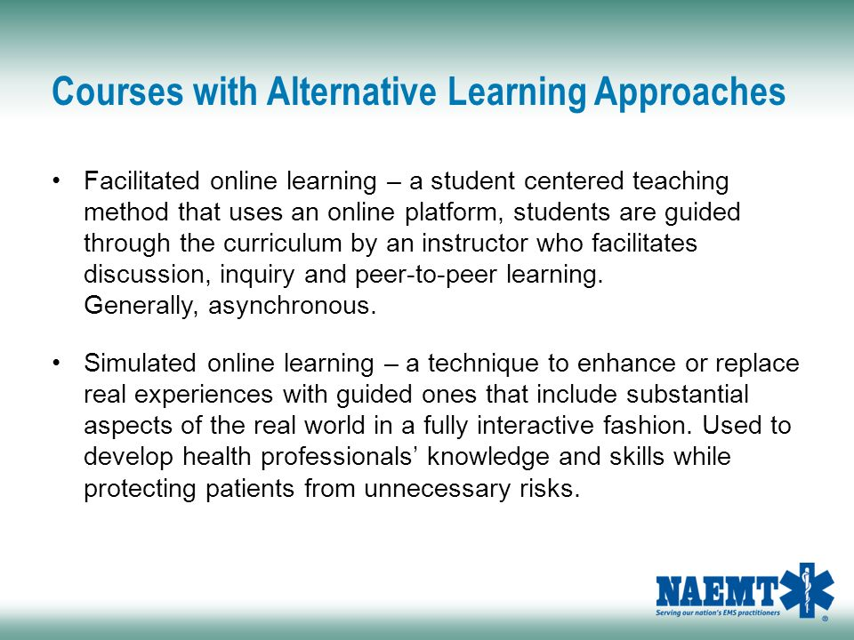 2015 naemt faculty meeting ppt download 80 courses with alternative learning approaches fandeluxe Image collections