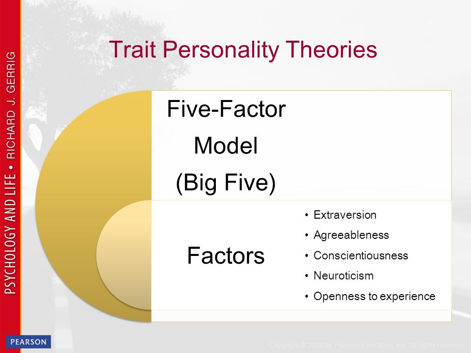 """neuroticism and the five factor model essay The concept of the """"big five"""" personality traits is taken from psychology and includes five broad domains that describe personality the big five personality traits are openness, conscientiousness, extraversion, agreeableness, and neuroticism these five factors are assumed to represent the basic structure behind all."""