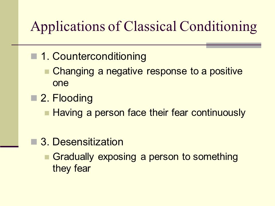 applications of operant conditioning quizlet