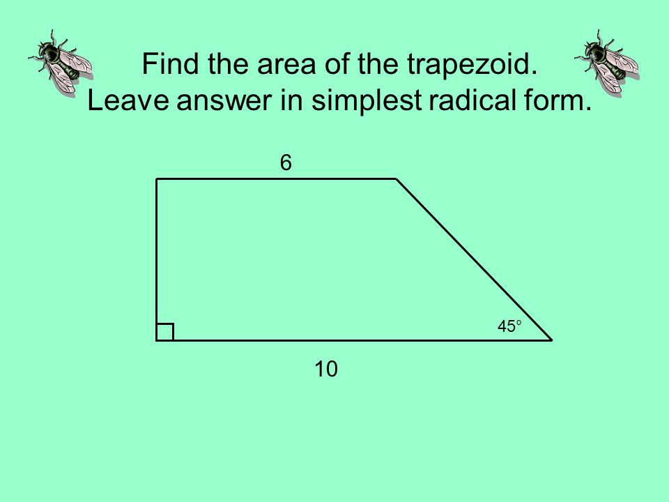 Find the area of the triangle. - ppt video online download