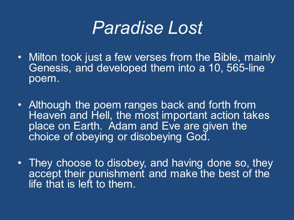 the theme of god in paradise lost by milton The humorous despair: the melancholy of satan in john milton's paradise lost - thomas c owen [pdf] the implications of chaos in paradise lost - rick bowers the heroic song in paradise lost and paradise regained - monika b hilder [pdf.