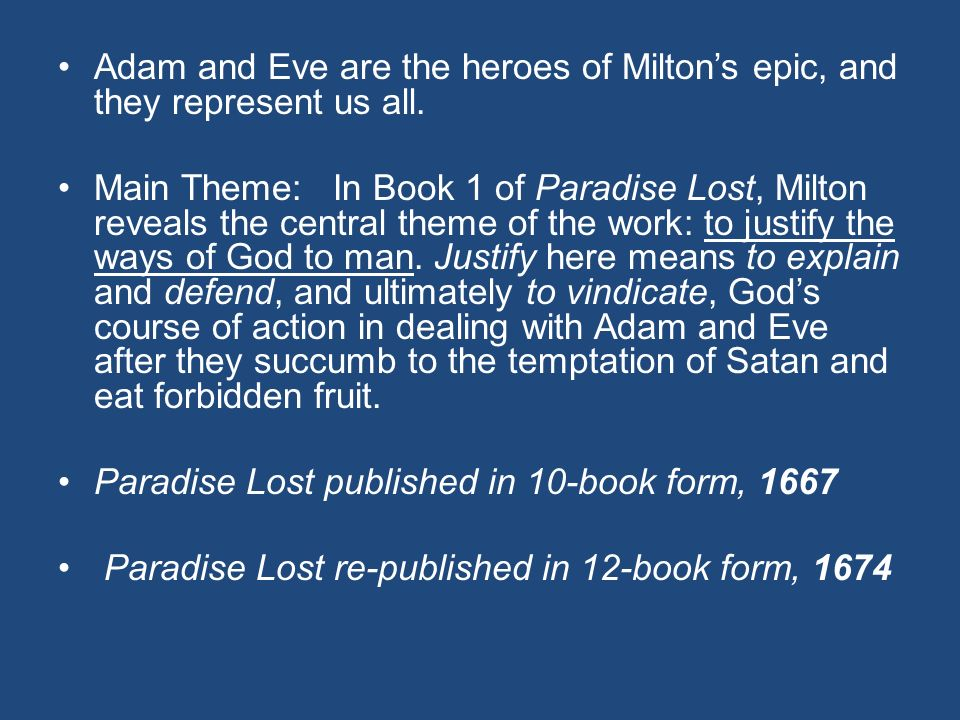 the hero of paradise lost is Paradise lost: a classical epic  in paradise lost the hero is adam,  if adam loses the eternal paradise,.