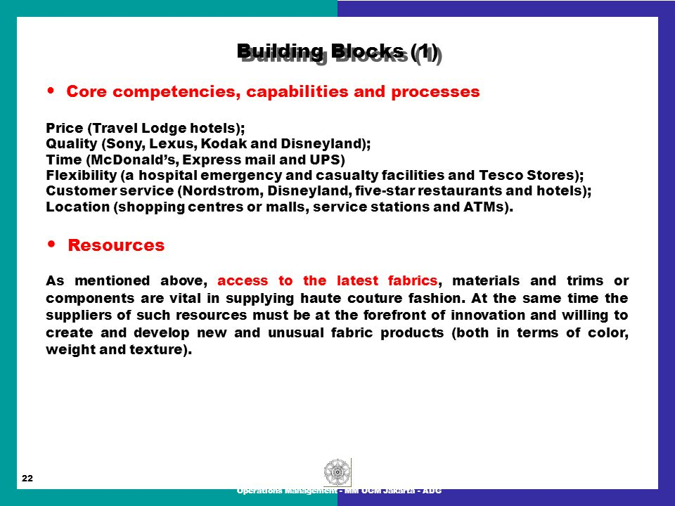 tesco core competencies Core competencies are the resources and/or strategic advantages of a business, including the combination of pooled knowledge and technical capacities, that allow it to be competitive in the.
