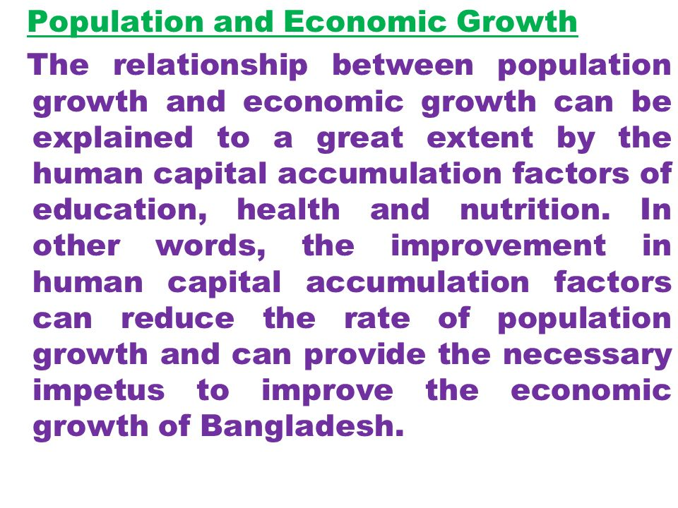 relationship between economic growth and environmental problems