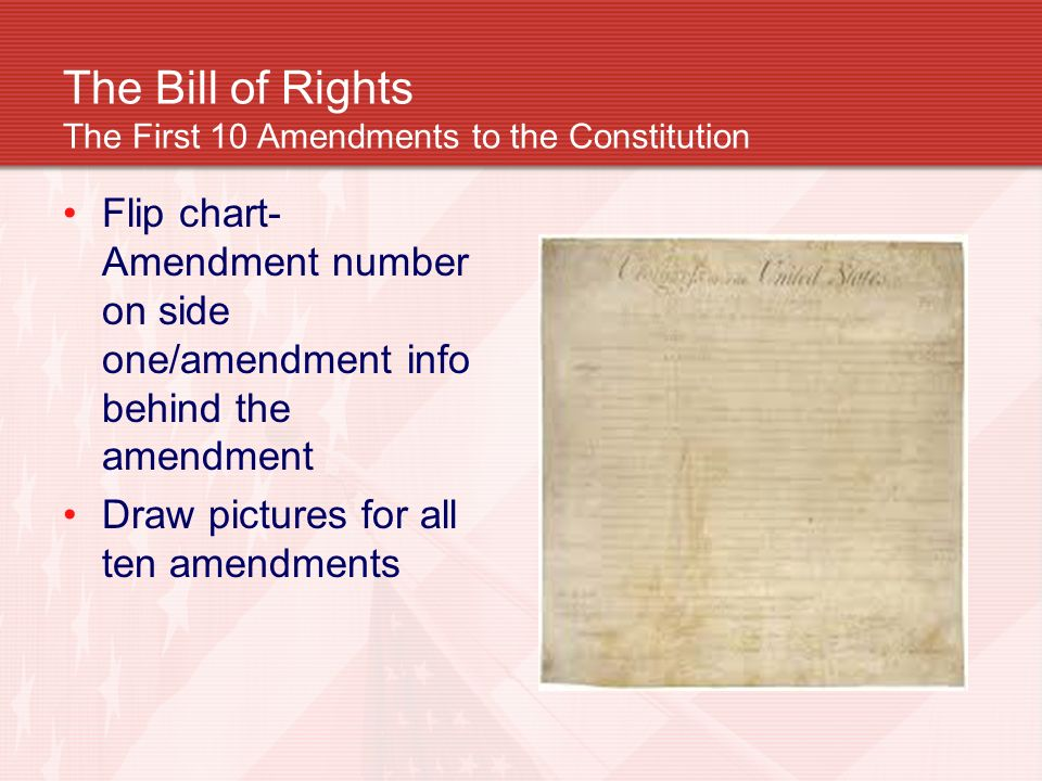 ten amendments of the bill of United states amendments 1-27 amendment i – freedom of  some feared that the listing of some rights in the bill of rights would be interpreted to mean that other.