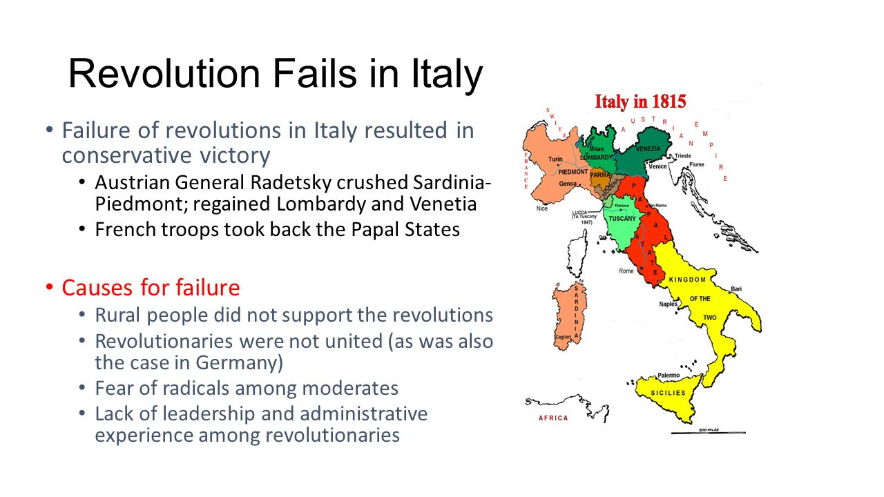 the failure of the 1848 revolution The revolutions of 1848 revolutions of 1848, series of violent uprisings in european countries where legal attempts at economic and political change had proven unsuccessful.