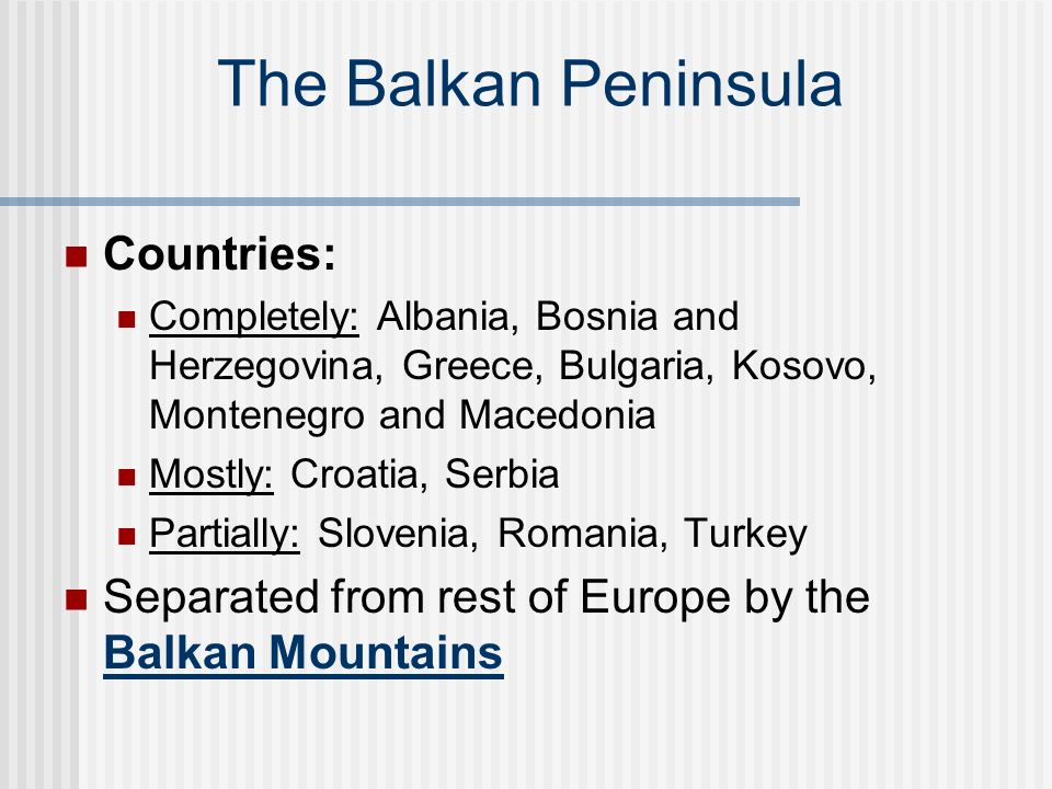 an analysis of the country of macedonia on the balkan peninsula Morphological analysis of the silene gigantea complex (caryophyllaceae) across the balkan peninsula bulgaria and macedonia.
