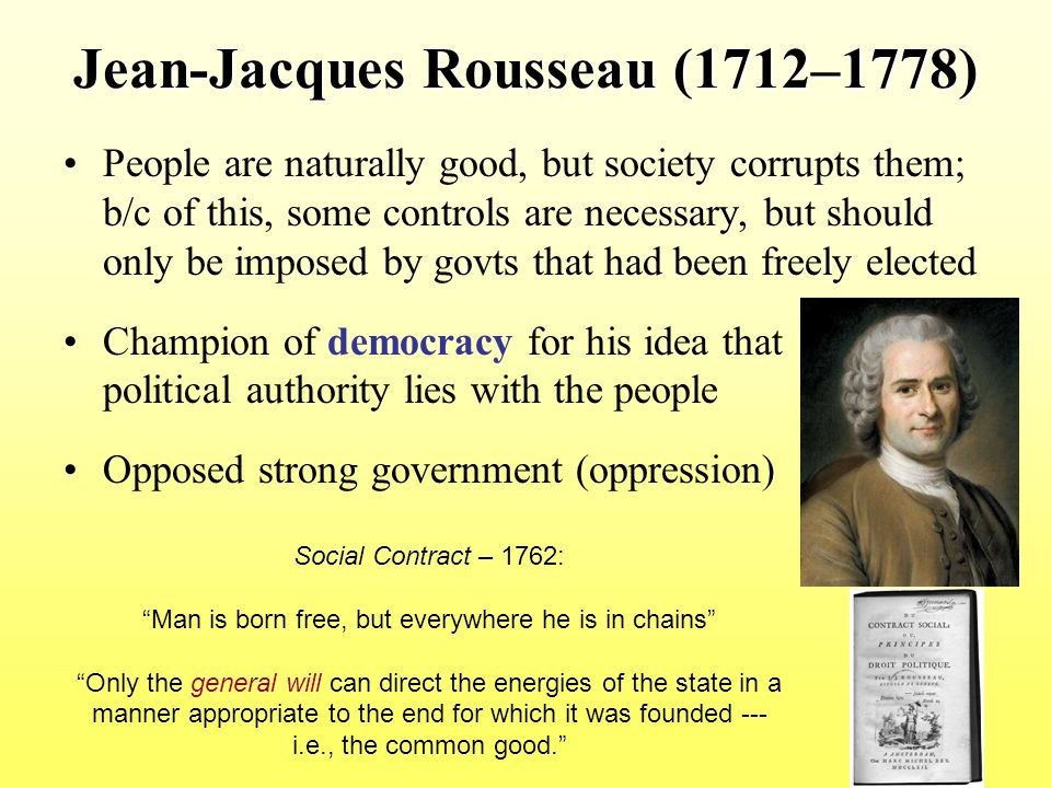 """rousseau and the chains of society essay How rousseau predicted trump the enlightenment philosopher's attack on cosmopolitan élites now seems prophetic  rousseau noticed an advertisement for an essay competition the topic was """"has the progress of the sciences and arts done more to corrupt morals or improve them"""" in his """"confessions,"""" published in 1782, and arguably the first modern autobiography,  rousseau's ideal society was sparta small, austere, self-sufficient, fiercely patriotic,."""