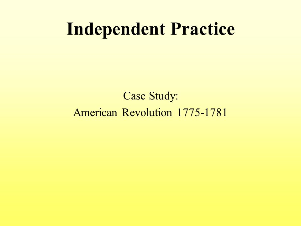 An analysis of the influences to the american revolution