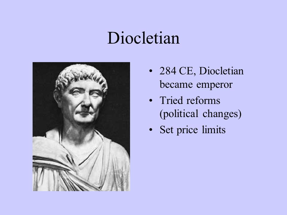an analysis of the roman empire and the reforms of diocletian In the first part of the century, the roman empire doesn't have a bond market it can raise funds on so instead it finances budget deficits by coining money currency reforms of the sort diocletian undertook still happen sometimes in the modern era.