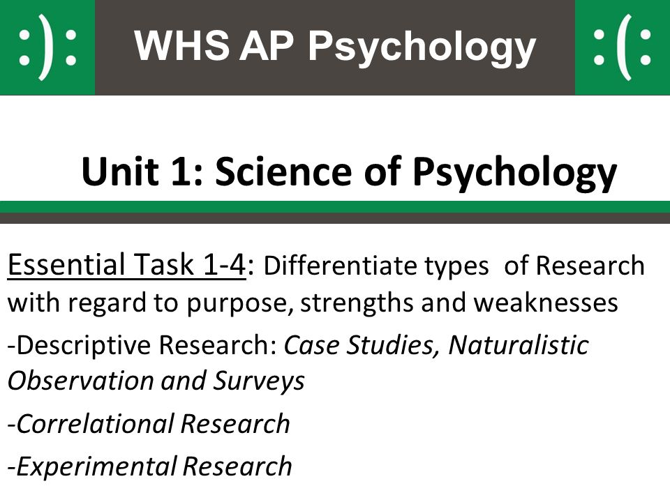 Case study psychology strengths and weaknesses