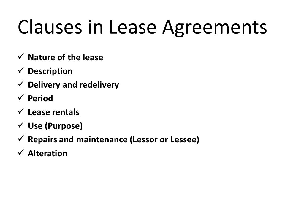 Theoretical And Regulatory Framework Of Leasing  Ppt Download