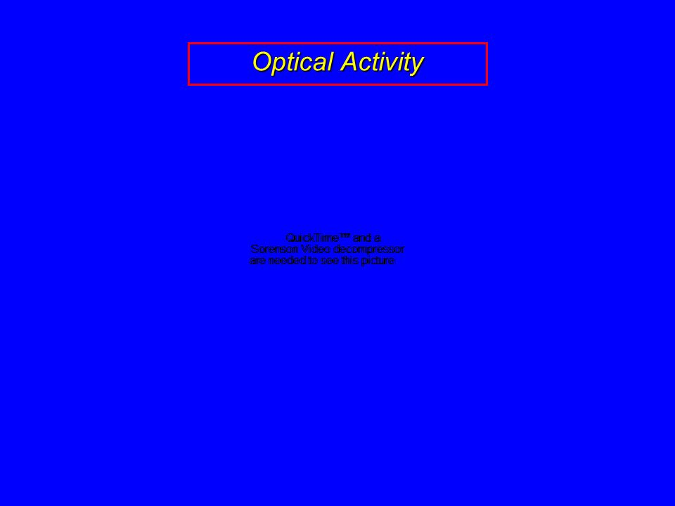 Properties Of Chiral Molecules Optical Activity Ppt
