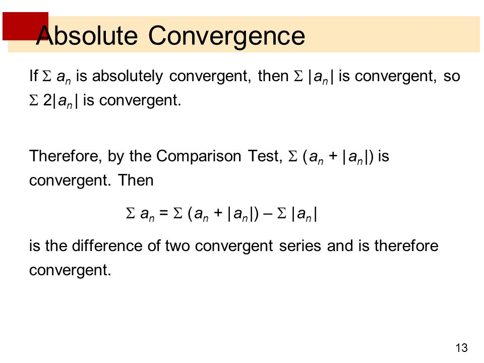 how to tell if a series is absolutely convergent