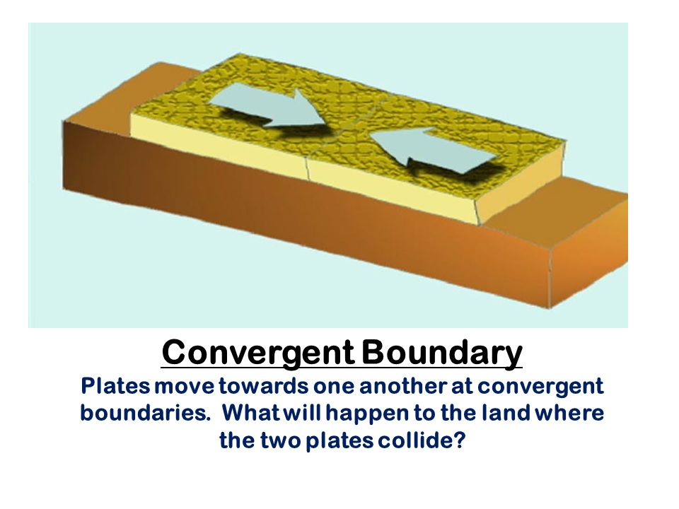 Convergent Boundary Plates move towards one another at convergent boundaries.