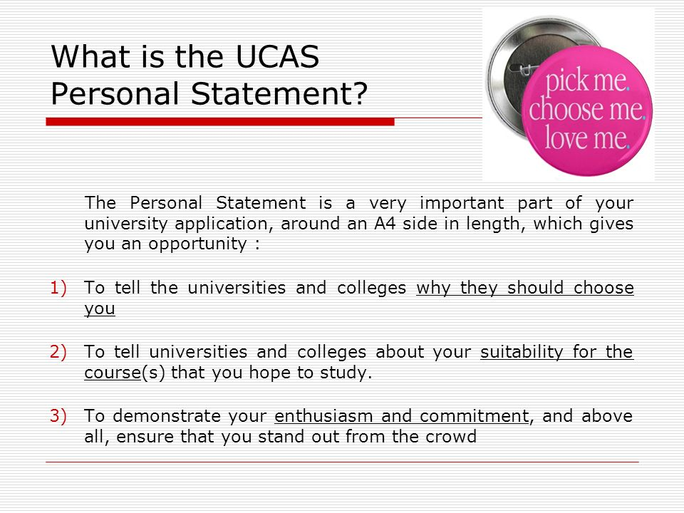 Personal statement writers video ucas