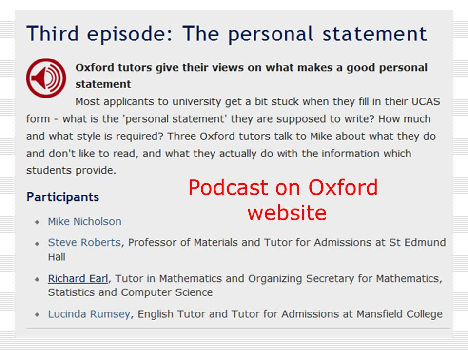 personal statement advice oxford This handout provides information about writing personal statements for academic and other positions.
