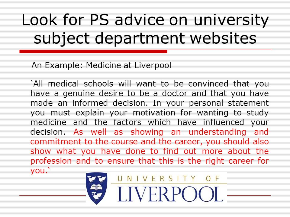perfect personal statement for university