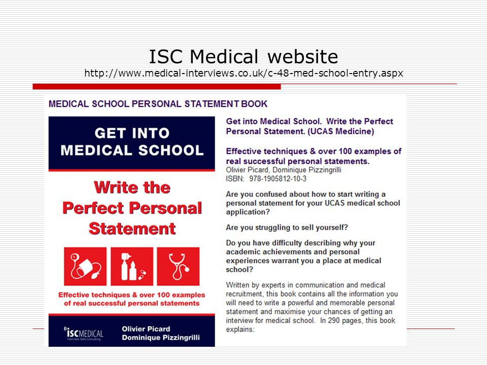 best medical school personal statement books The smart premed student's guide for applying to medical school by suzanne r smith foreword by winnifred cutler, phd  the specific medical school best suited for your professional pursuits, individual goals, and  v personal statement – beginning to consider.