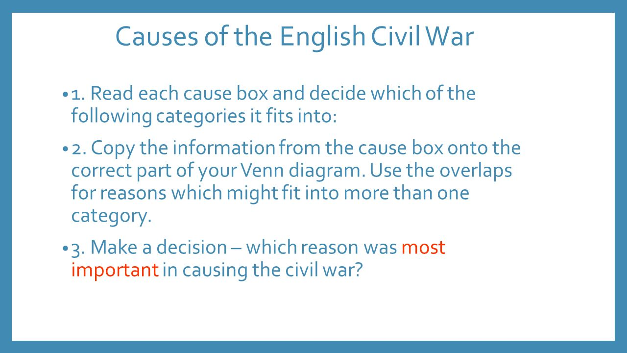 top five causes of the civil Causes of the civil war | causes of the civil war | causes of the civil war quizlet | causes of the civil war for kids | causes of the civil war essay.