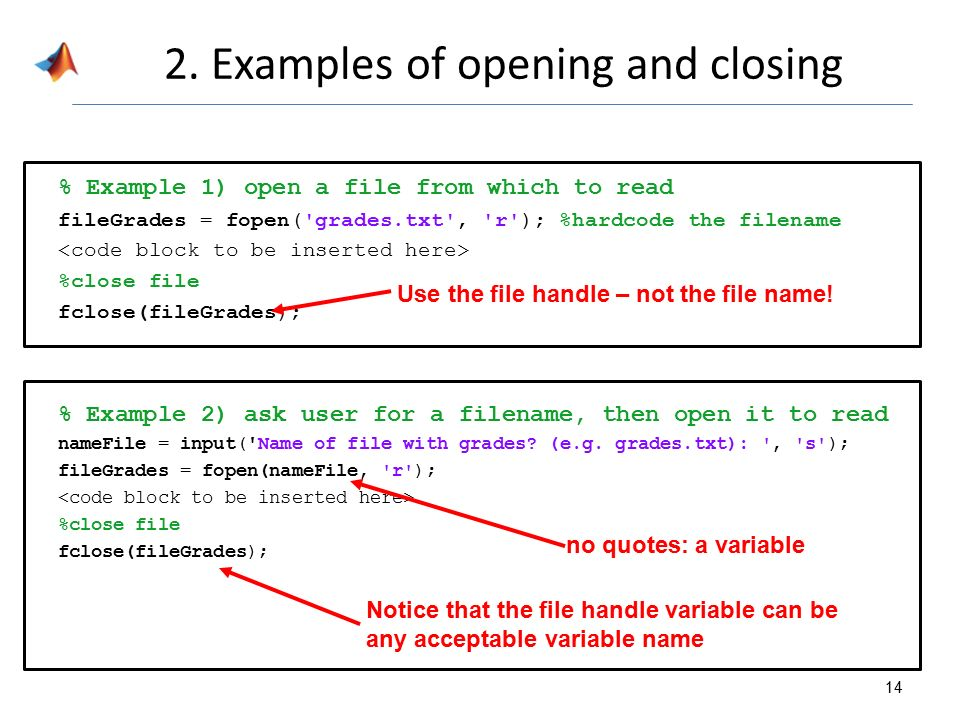 how to read input from text file in matlab
