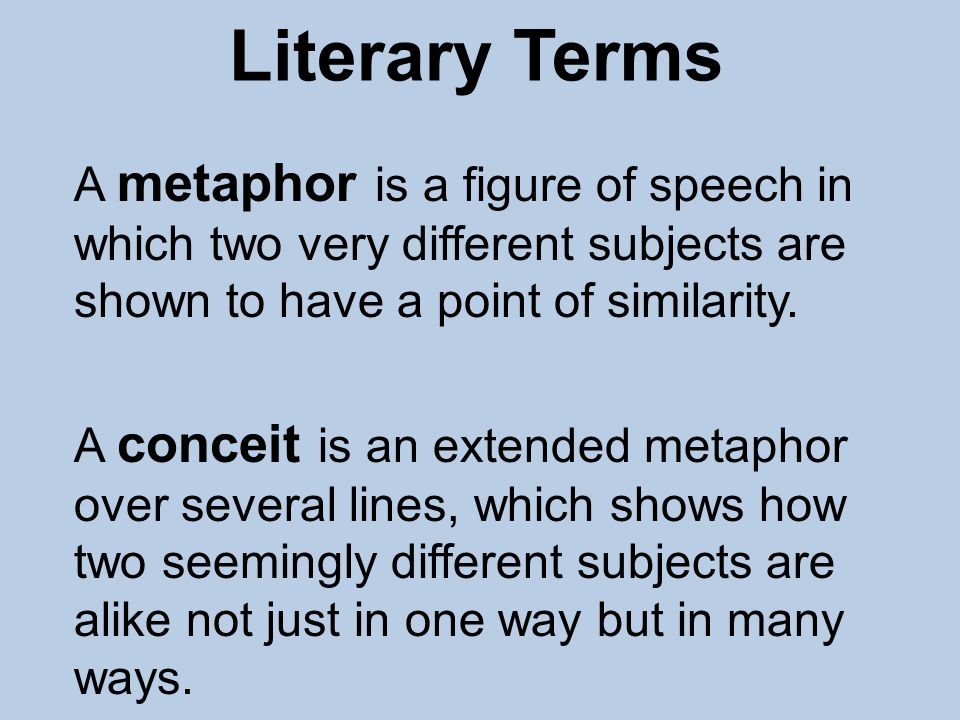 Literary term conceit